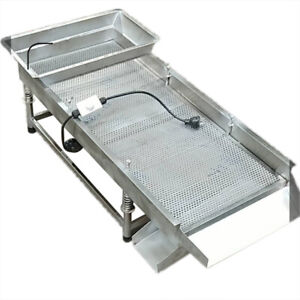Intbuying 220v Linear Vibrating Screen For Removing Crop Impurities Etc New