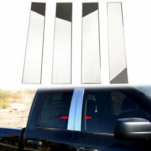 4pcs Stainless Steel Chrome Pillar Post Trim For 04 14 Ford F150 Super Cab Crew
