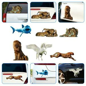 3d Animal Pvc Car Sticker Decal Auto Lion Body Decoration Styling Accessories
