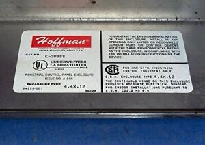 Hoffman E3pbss Enclosure For 3 30 5 Mm Pushbuttons Stainless Steel Type 304