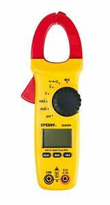 Digital Snap around Clamp Meter 5 Function 8 Range 400 600v Ac dc With Case
