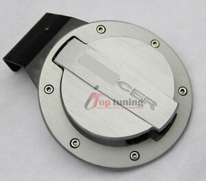 Alloy Fuel Door Oil Gas Cover Tank Cap Lid Seal For Mitsubishi Lancer 2008 2013