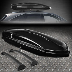 For 14 19 Acura Mdx Roof Top Cargo Storage Luggage Box Case W Aluminum Cross Bar