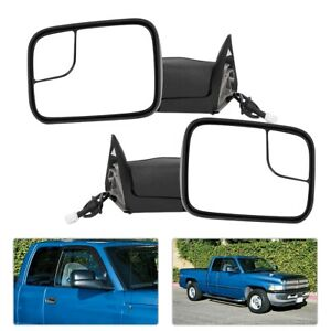 2 Pcs L r Power Heated Towing Mirrors Fit For 1998 2001 Dodge Ram 1500 2500 3500
