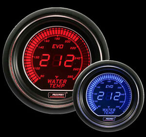 Evo Series Water Temperature Gauge electric 52mm 2 1 16 Red And Blue