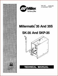 Miller Millermatic 35 35s Technical Manual Eff With 71 561033