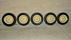 1933 1934 Ford Model A Coupe Roadster 17 Wire Wheels Set Of 5 Original 33 34