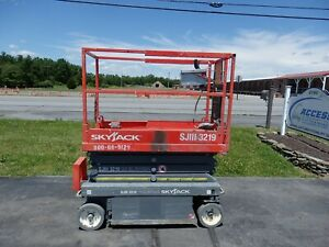 2013 Skyjack Sjiii3219 19 Electric Slab Scissor Lift Manlift Platform Lift