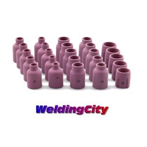 Weldingcity 25 pk Assorted Tig Welding Large Gas Lens Cup 53n 57n 6 15 Usa