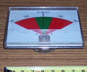 Crompton Instruments Dc Amp Meter Scale Q12649 500 0 500 Old Stock