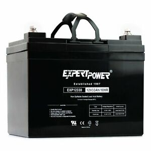 Expertpower 12v 33ah Rechargeable Agm Sla Battery exp12330 Replaces 34ah 35ah