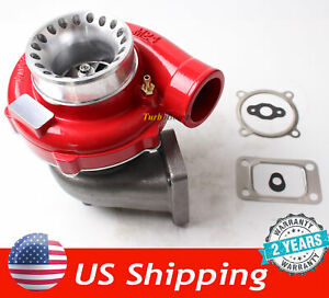 Gt35 Gt3582 Turbo Charger T3 Anti Surge Compressor Turbocharger Red Housing