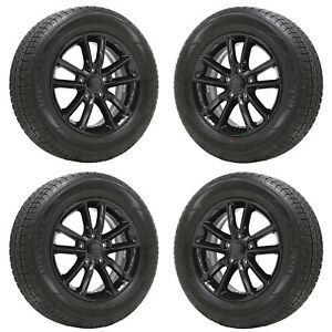 17 Dodge Grand Caravan Gloss Black Wheels Rims Tires Factory Oem Set 2399