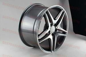 18 Staggered Gunmetal Split Spoke Amg Rims Fits E Class E320 E350 E500 E550