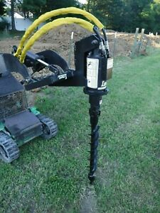 Lowe Tj 100 Mini Skid Steer Auger Post Hole Digger With 4 Auger Bit Ship 199