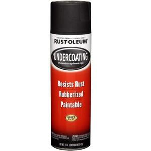 Rubberized Undercoating Spray 6 pack Paint Auto Matte Black Metal Rubber Coating