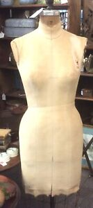 Vintage Professional Female Dress Form Tailor Sewing Mannequin Full Wire Cage