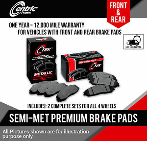 Front Rear Metallic Disc Brake Pads 2 Complete Sets Acura Rdx 2007 2012