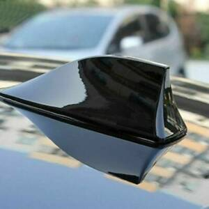 New Universal Car Auto Shark Fin Roof Antenna Radio Fm am Decorate Aerial Black