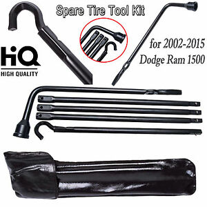 Tool Kit Repair Spare Tire Lug Wrench Carry Bag For 02 15 Dodge Ram 1500 Truck
