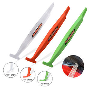 3 Hardness Tpee Micro Squeegee Magnetic Gasket Tuck Tools Car Tint Wrap Vinyl Us
