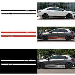 Diy Car Suv Side Body Door Racing Long Stripe Vinyl Decals Decoration Sticker A