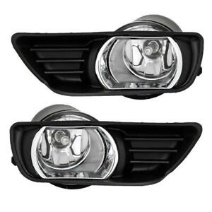 For 2007 2009 Toyota Camry Clear Front Bumper Fog Lights Lamps Kit Switch Wiring