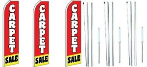 Carpet Sale Swooper Flag With Complete Hybrid Pole Set 3 Pack
