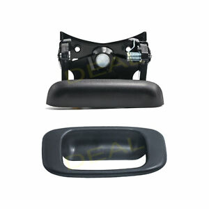 Textured Blk Tailgate Handle Bezel Cover Fit 99 06 Silverado Sierra 07 Classic