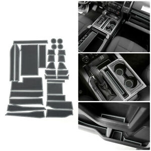 29pcs Non dust Door Gate Slot Mats Carpets Cup Holder Pads For Ford F150 2015 Up