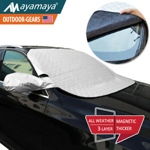 Car Windshield Snow Cover Magnetic Ice Frost Sun Shade Mirror Protector Winter