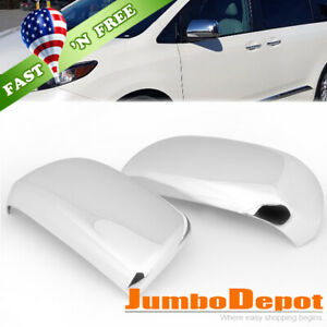 Us Chrome Side Half Mirror Cover Trims Fit 2011 2013 Toyota Highlander Sienna