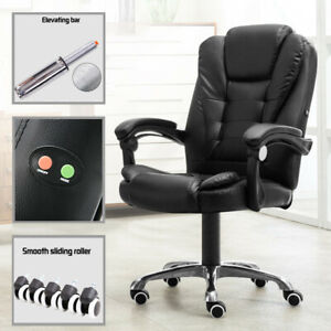 Ergonomic Massage Office Chair Desk Swivel Executive Black Gaming Chair Desk