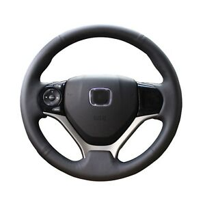 Smooth Leather Steering Wheel Wrap Cover Honda Civic 9 2012 2015