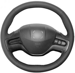 Smooth Artificial Leather Steering Wheel Wrap Cover For Honda Civic 8 2006 2009