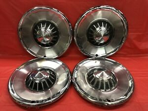 Vintage Set Of 4 1963 Plymouth 14 Hubcaps Belvedere Fury Savoy