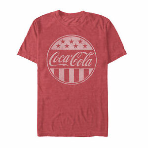 Coca Cola American Flag Logo Mens Graphic T Shirt