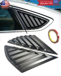 Black Side Quarter Window Cover Louver Scoop Vent For Ford 13 18 Mondeo Fusion