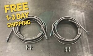 Stainless Steel Rear Brake Line Replacement Kit For 98 02 Honda Accord W Disc