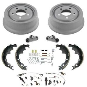 Rear Brake Drums 9 X 2 5 Inch Brake Shoes For Jeep Wranger 8pc 1991 1998