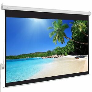 100 4 3 Material Electric Motorized Indoor Projector Screen remote