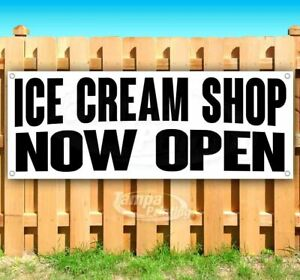Ice Cream Shop Now Open Advertising Vinyl Banner Flag Sign Many Sizes Usa Food