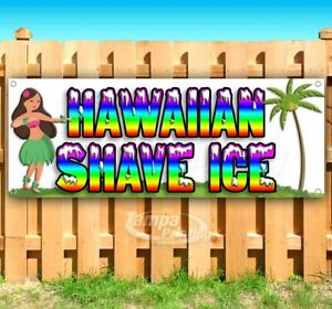 Hawaiian Shave Ice Advertising Vinyl Banner Flag Sign Many Sizes Usa Treat