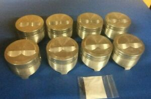 Chevy 400 Forged Dome Top Pistons Sbc Hi Perf Jahns 377 With 350 Crank