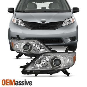 Fits 2011 2017 Toyota Sienna Halogen Headlights Lamps Replacement Pair Lh Rh