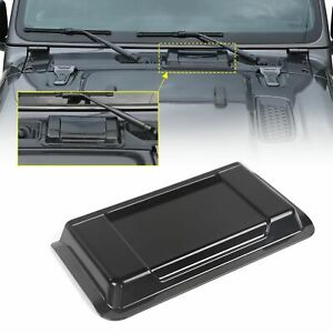 Black Abs Air Intake Hood Vent Scoop Cover Trim For Jeep Wrangler Jl 2018 2019