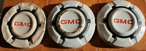 Lot Of 3 Vintage Gmc Dog Dish Hubcaps