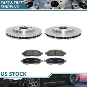 Front Brake Rotors Ceramic Brake Pads For 2003 2004 Ford Expedition Brand New