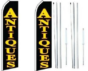 Antiques Swooper Flag With Complete Hybrid Pole Set pack Of 2