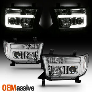 Fits 2007 2013 Toyota Tundra 2008 2013 Sequoia Light Bar Projector Headlights